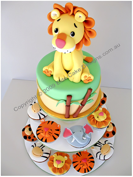 Lion-jungle-zoo-animals-cupcakes