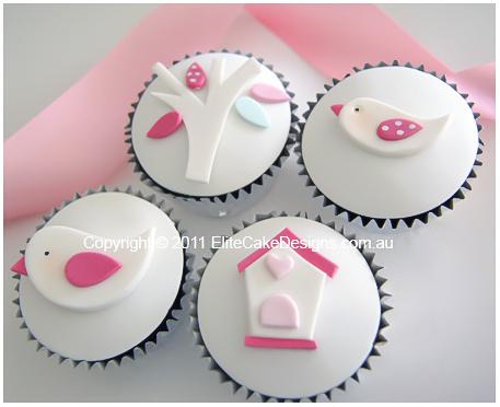 White Birdie Christening-Baby Shower cupcakes Sydney