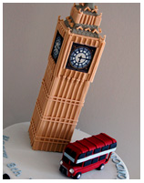 Big Ben London UK Theme Cake