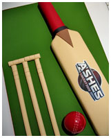 cricket novelty birthday cake