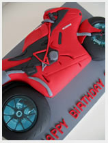 racing motorbike novelty cake