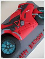 Racing Motorbike Novelty Cake