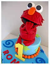 elmo novelty cake