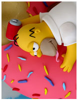 Simpsons Novelty birthday Cake