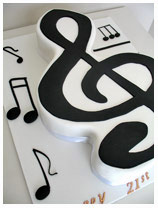 music novelty cake