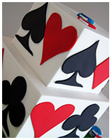 casino playing cards cake