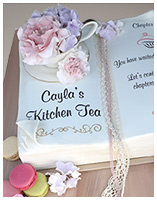 Kitchen Tea Recipe Book cake
