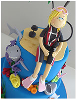 Scuba Diver Novelty Birthday cake