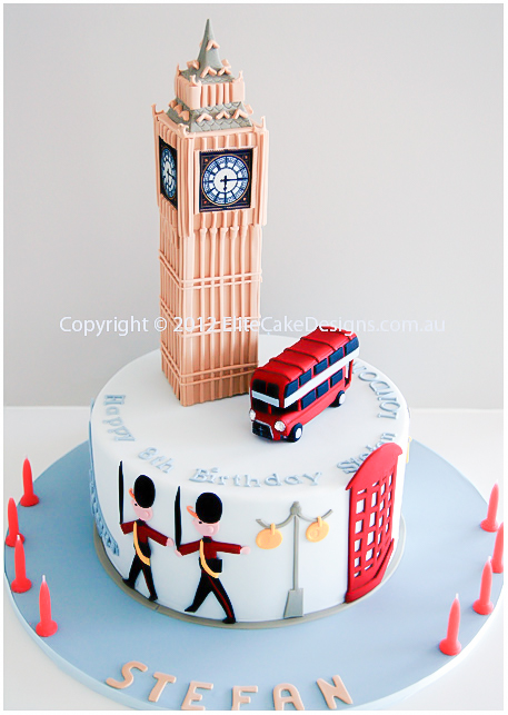 Amazing Big Ben Uk Theme Novelty Birthday Cake Novelty Cakes Sydney 21St Personalised Birthday Cards Xaembasilily Jamesorg