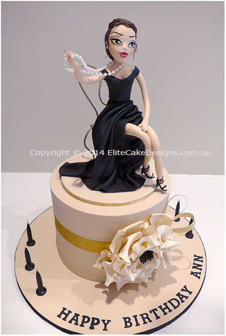 Glamour Girl Novelty Birthday cake for 30th or 40th