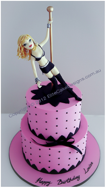 Pole Dancer Stripper Novelty Birthday Cake