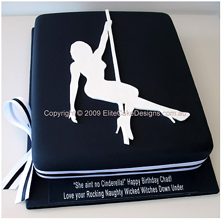 Pole-dancer, stripper cake