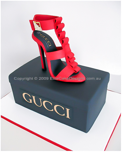 Shoe Birthday Cakes http://www.elitecakedesigns.com.au/stiletto-shoebox-cake.html