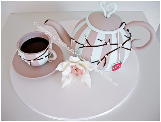 Teapot And Coffee Cup Novelty Cake Kitchen Tee Cakes 50th