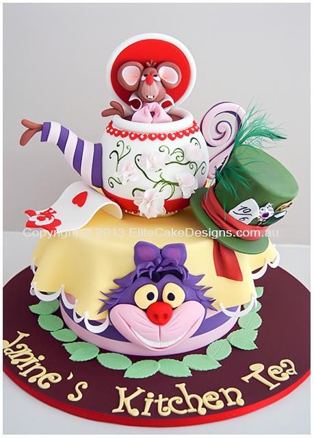 Alice in Wonderland Kitchen Tea Cake | Designer Cakes by