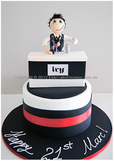 Bartender Novelty Birthday Cake For Men By Elite Cake