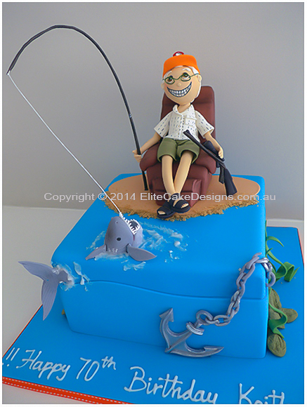 Groovy Old Fisherman Hunter Cake Designer Cakes By Elitecakedesigns Sydney Funny Birthday Cards Online Elaedamsfinfo