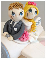 Funky Couple Wedding Cake #8