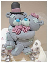 Met to You bears wedding cake