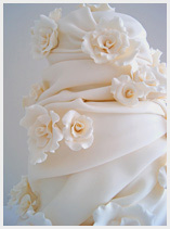 Rose tower Wedding Cake