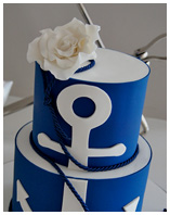 Yachting Theme Wedding Cake