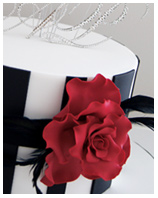 Red Rose Wedding - Engagement Cake