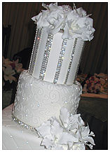 swarivski crystals wedding cake