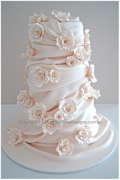 Wedding Cake Tower With Roses