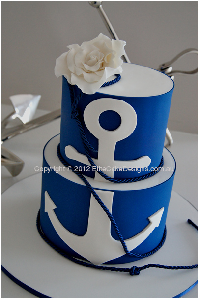 Sailing theme wedding cake