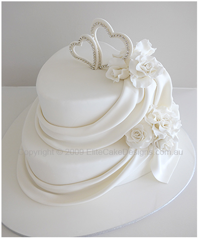 Wedding cake with hearts